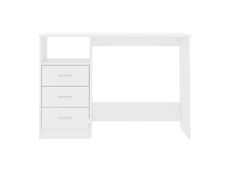 Bureau blanc 120 x 76,6 x 50 cm (lxhxp)