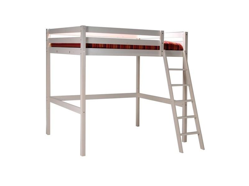 lit mezzanine studio 140x190 1 sommier blanchi vente de lit enfant conforama. Black Bedroom Furniture Sets. Home Design Ideas