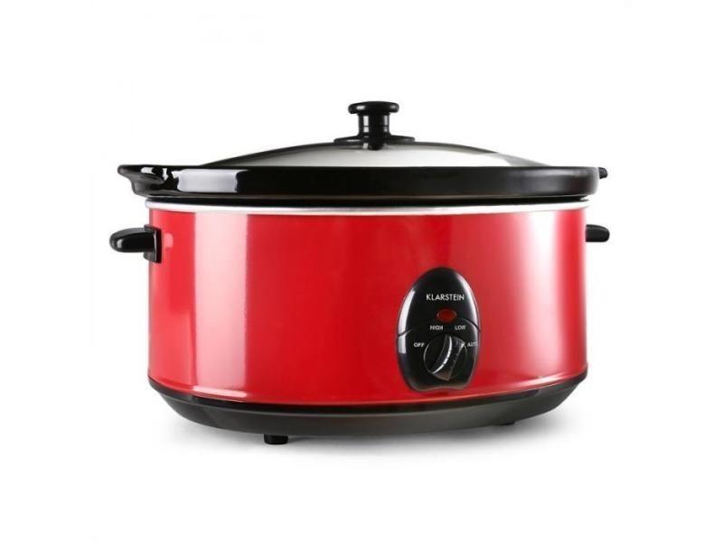 Bristol 65 mijoteuse cocotte 6,5 litres cuisson lente 300w - rouge
