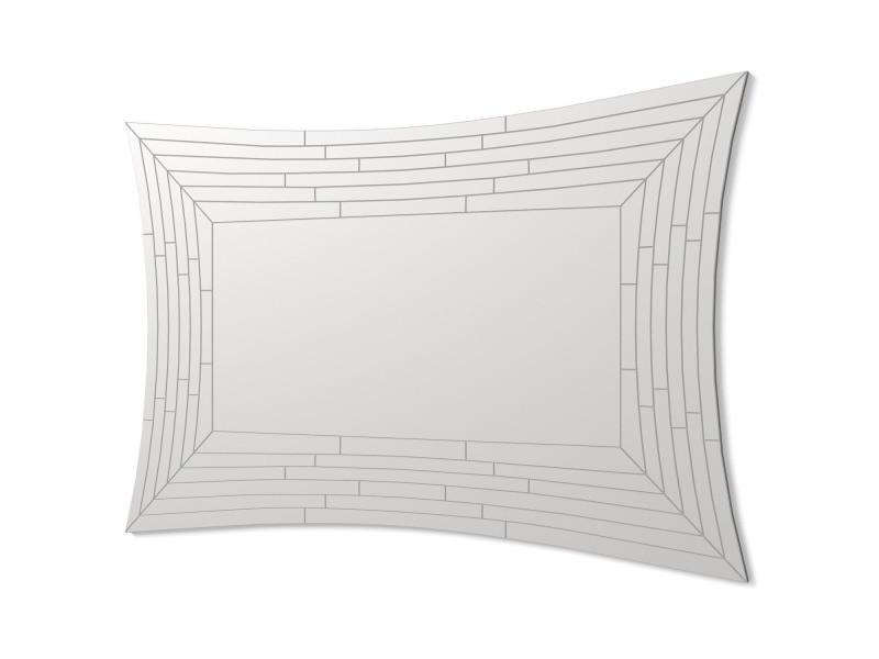 Dekoarte e036 - miroirs muraux décoratifs modernes   décoration de miroirs pour votre salon, chambre, entrée, couloir   grands miroirs rectangulaires sophistiqués couleur argent   1 pièce 120 x 80 cm