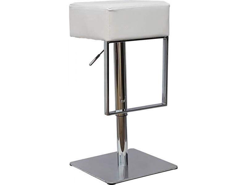 Tabouret de bar design en pu blanc matisse