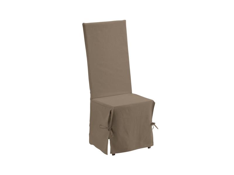 housse de chaise renato taupe 35 x 35 x 116 cm les ateliers du linge 7468097601 vente de. Black Bedroom Furniture Sets. Home Design Ideas