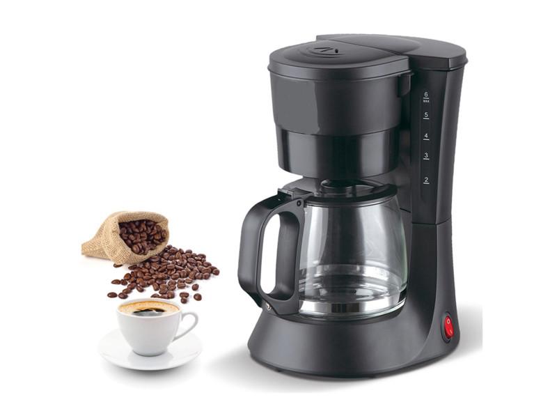 Cafetière éléctrique coloris noir 600w 0.6l -pegane-