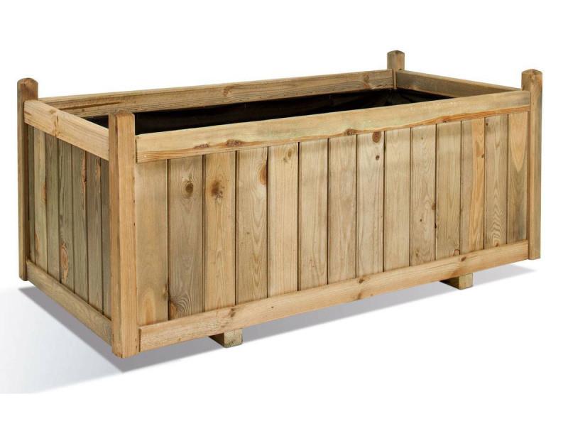 Jardinière rectangulaire en bois maxi volume vendôme 120 0281429