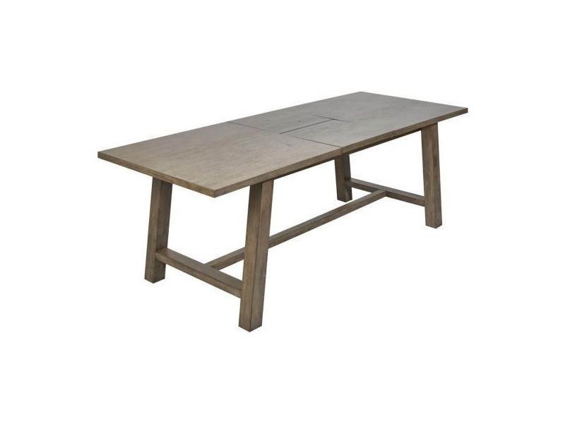 Bobochic tables de repas extensible 180 cm bois massif noemie