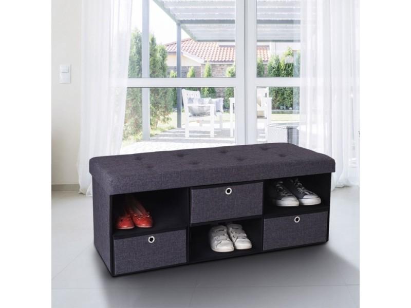 cool banc coffre tissu tiroirs gris xx cm pliable with coffre en osier ikea with coffre en osier. Black Bedroom Furniture Sets. Home Design Ideas
