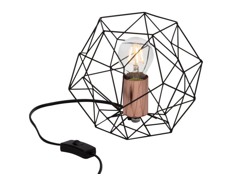 Design Métal À Lampe Poser Cuivrée Et Filaire Noire En Synergy Srcthqd dstQrChx