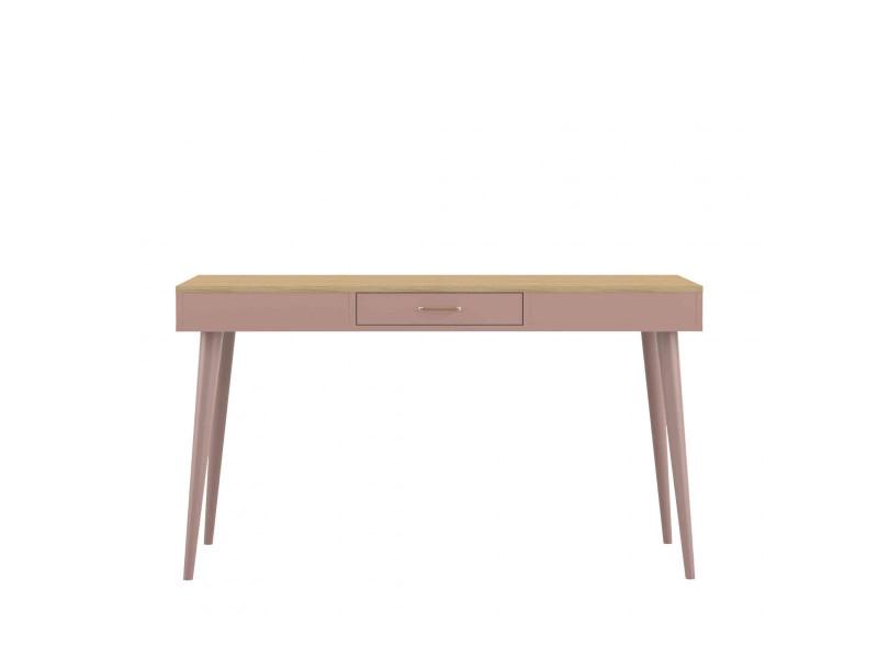 Bureau en bois rose avec tiroir central bu vente de bureau