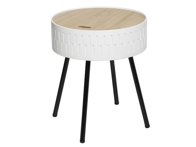 Table à café coffre blanc shiro atmosphera