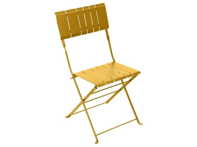 Chaise extérieur pliante nasca moutarde hespéride