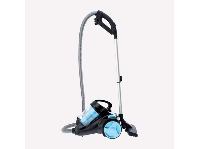 Aspirateur polycyclonique sans sac de 2,5l silence+ bleu noir
