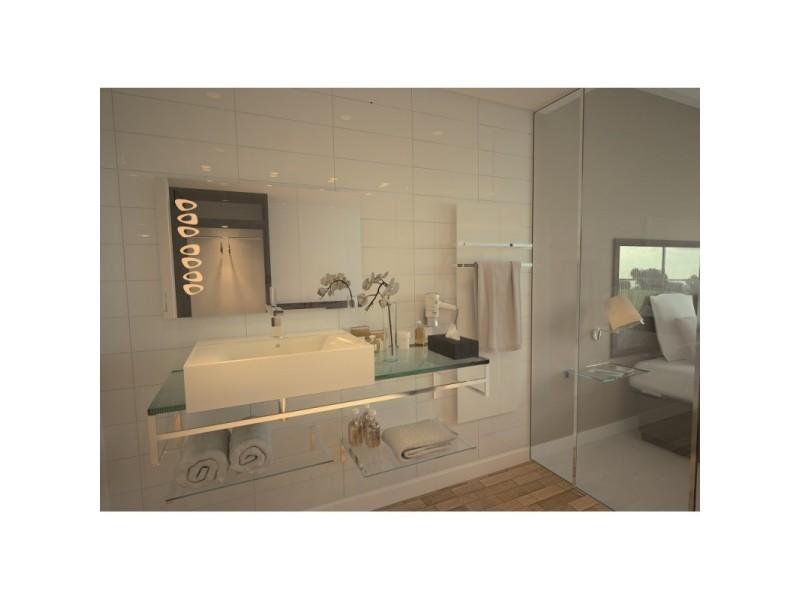 Miroir de salle de bains avec éclairage led - design knoll - 60 cm x 90 cm (hxl)