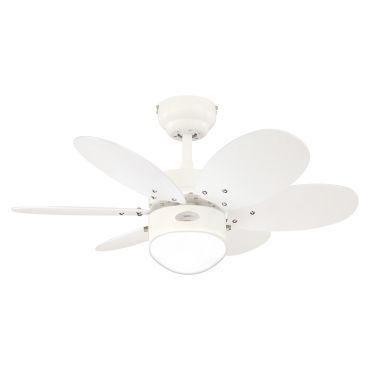 Plafonnier ventilateur lancester blanc et pastel multicolore
