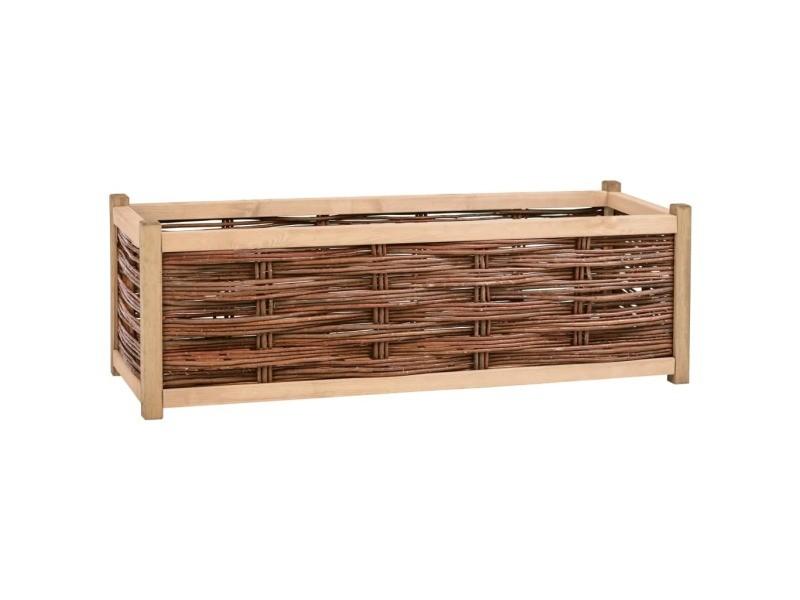 Joli jardinage edition sanaa lit surélevé de jardin 120x40x40 cm bois de pin massif