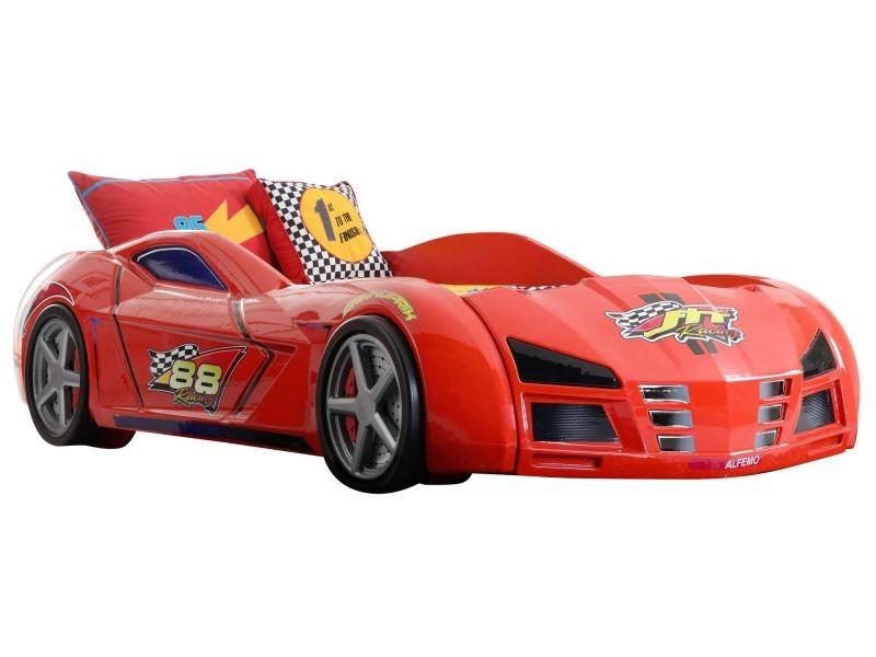 lit voiture de course 90x200 formule1 coloris rouge vente de comforium conforama. Black Bedroom Furniture Sets. Home Design Ideas