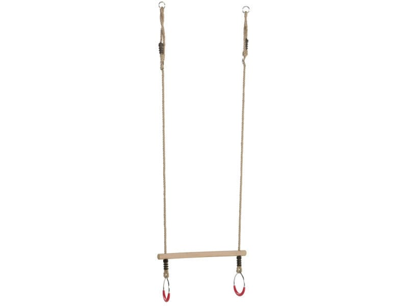 Kbt - trapèze avec anneaux métal cordes chanvre