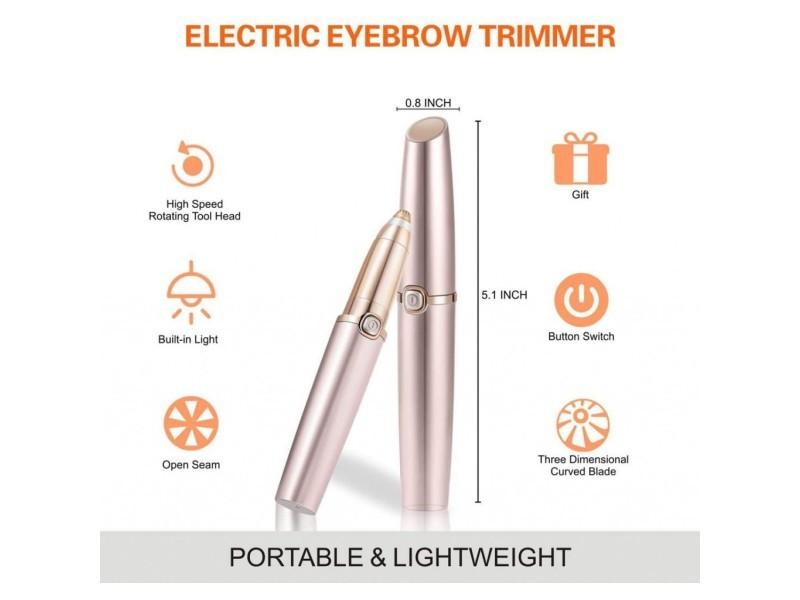 Epilateur sourcil rasoir sourcil à led, rasoir precis pour sourcil efficace et sans douleur rasoir epilateur électrique pour les