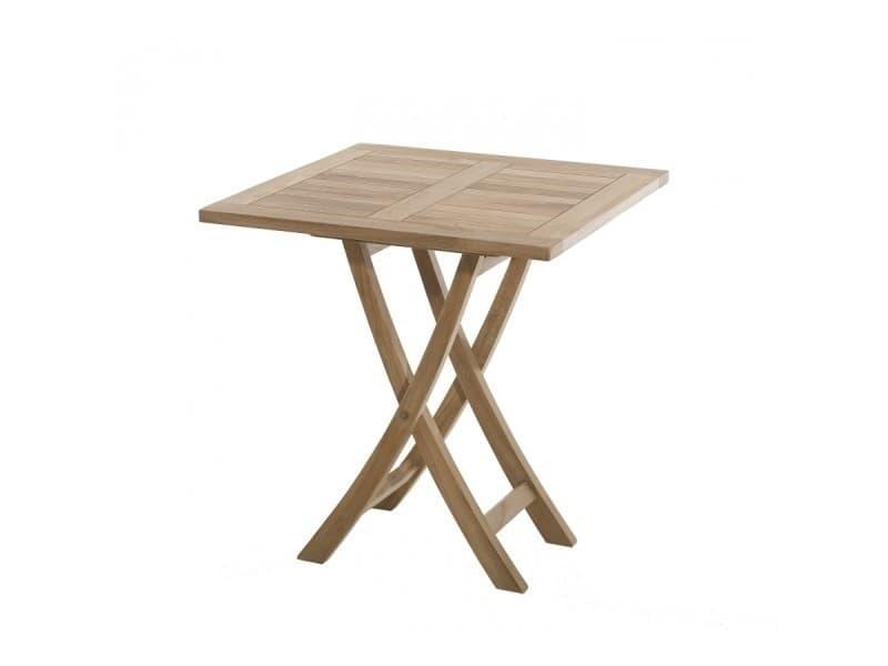 Table de jardin en bois teck carrée pliante - Vente de Ensemble ...