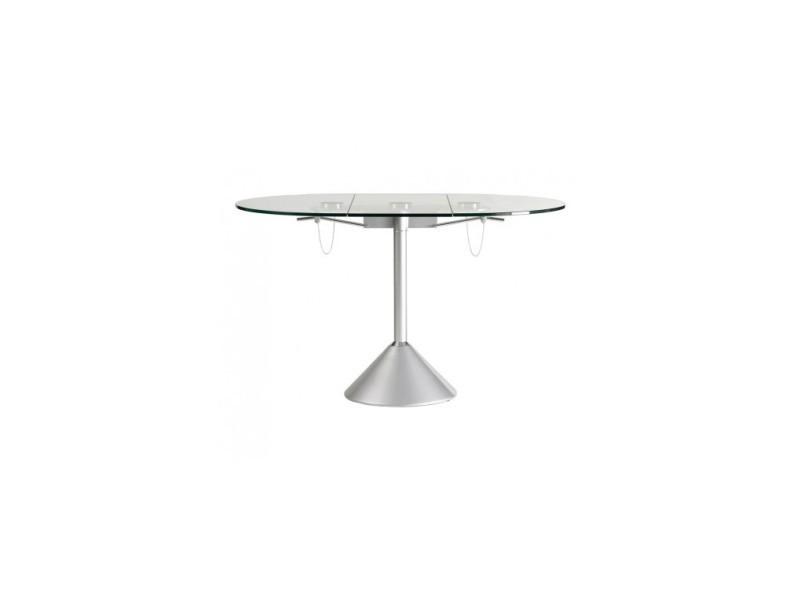 Table à manger design plateau ovale rétractable draco