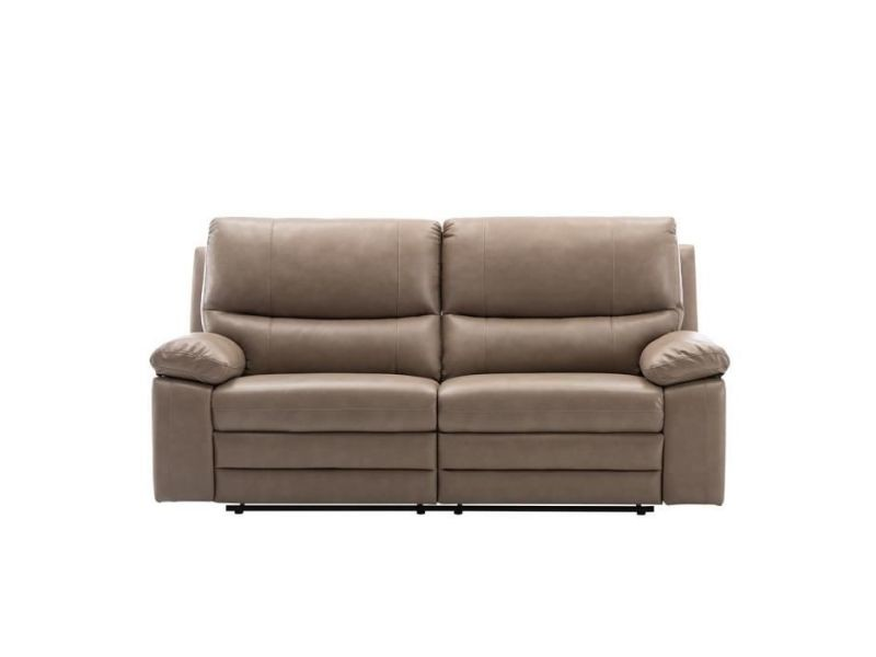 Canapé 2 places relax électriques - tissu beige - l 201 x p 158 x h 99 cm - dustin BODUSTIND8666EBG