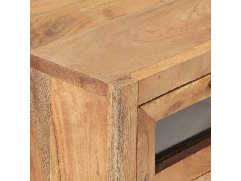 Vidaxl buffet 60x35x70 cm bois d'acacia massif