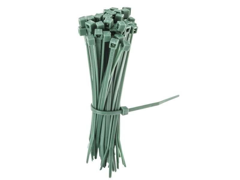 Occultants, clotûres lot de 50 liens vert en plastique pour la fixation de vos clôtures et grillage