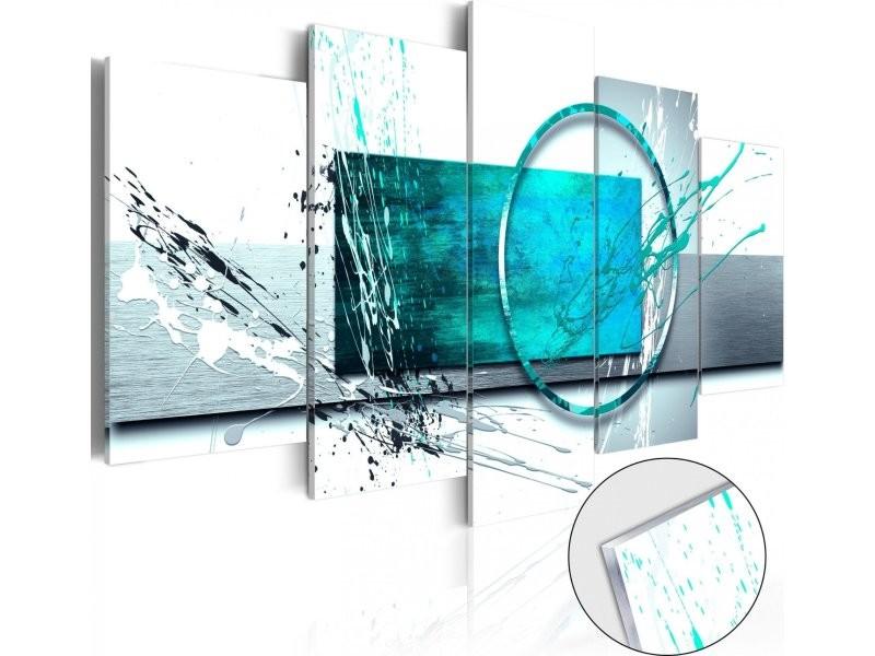 Cadre d/écoratif en verre acrylique brillant transparent /à 1 transparent pour encastrer des prises ou des interrupteurs... 2 ou 3 compartiments surface tr/ès brillante