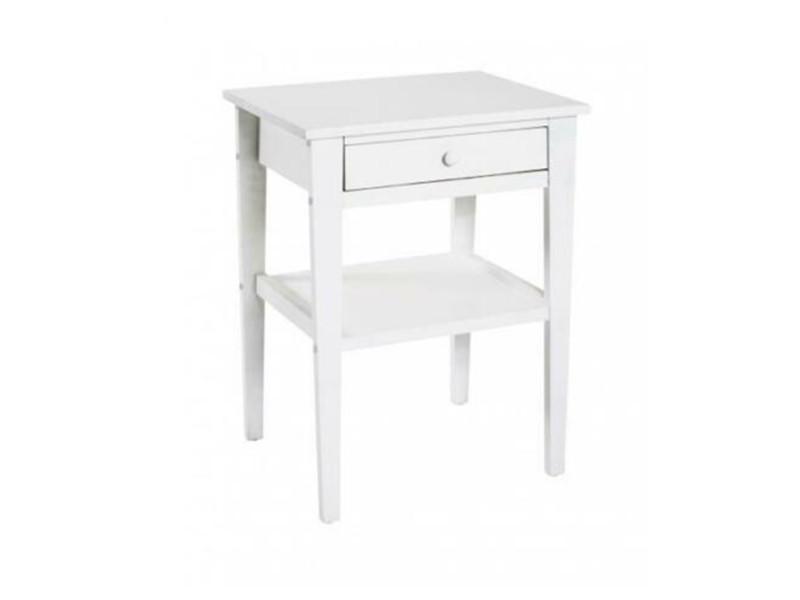 Commode coloris blanc en mdf - l 40 x p 35 x h 60 cm -pegane- PEGANE