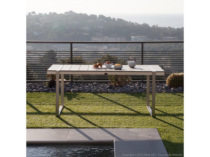 Table de jardin aluminium/composite 180x90 cm eleganza gris - Vente ...