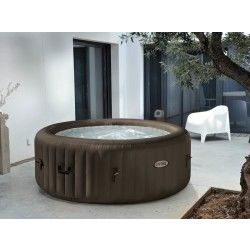 Spa gonflable intex purespa rond à jets 4 pl + kit brome