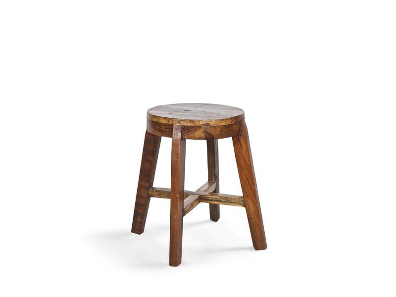 tabouret bas en bois lieve couleur naturel 375723 vente de bar et tabouret de bar conforama. Black Bedroom Furniture Sets. Home Design Ideas