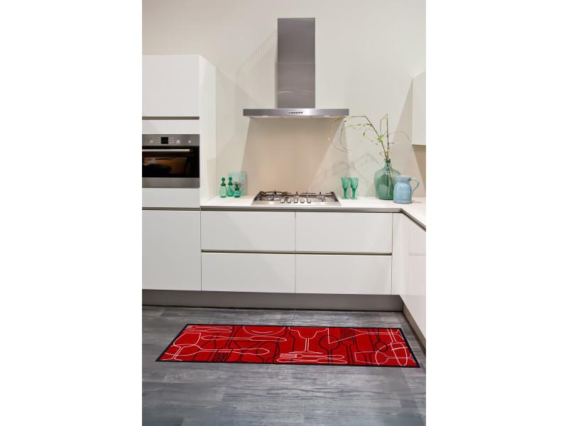 Tapis chambre service rouge 50 x 150 cm tapis cuisine par ...