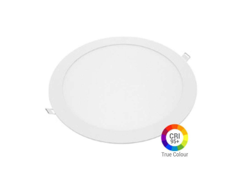 Plafonnier led rond 24w extra plat encastrable irc95 - blanc naturel 4200k DL2612