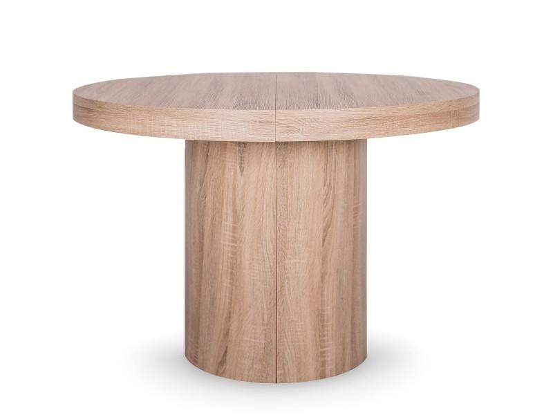 Table ronde extensible suzie xl chêne clair