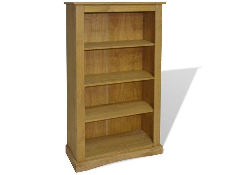 Étagère armoire meuble design bibliothèque à 4 niveaux pin 150 cm marron helloshop26 2702017/2