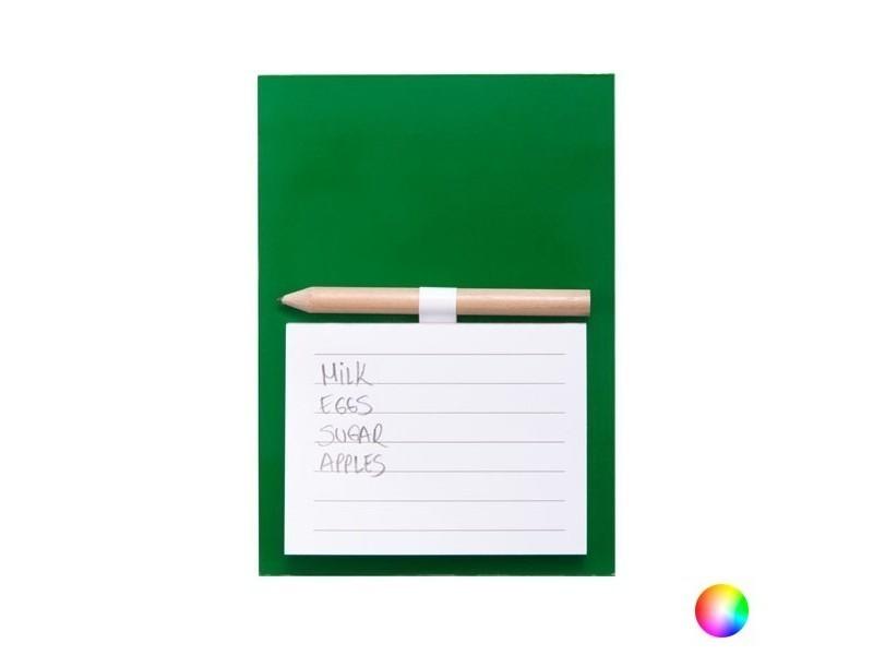 Bloc de notes à aimant avec stylo - magnette avec feuilles couleur - rouge