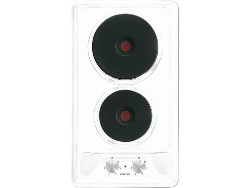 Domino 2 électriques émail blanc airlux
