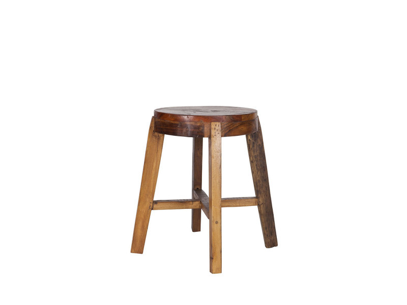tabouret bas en bois lieve couleur naturel 375723 vente de bar et tabouret de bar conforama. Black Bedroom Furniture Sets. Home Design Ideas