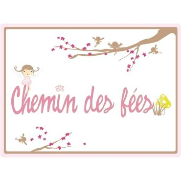 stickers enfant lili pouce plaque de porte chemin des f es vente de stickers et papier peint. Black Bedroom Furniture Sets. Home Design Ideas