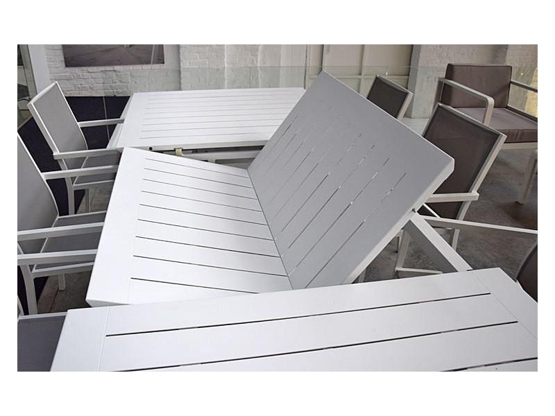 Table Extensible En Alu Blanc 160 240 X 90 Cm Ofanto Vente De