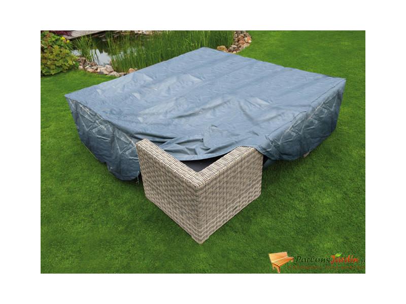 Housse de protection pour salon de jardin bas l200cm - Vente ...
