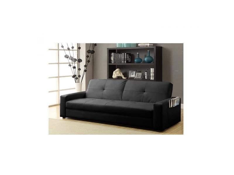 porto canap noir convertible lit avec coffre de rangement vente de canap d 39 angle conforama. Black Bedroom Furniture Sets. Home Design Ideas