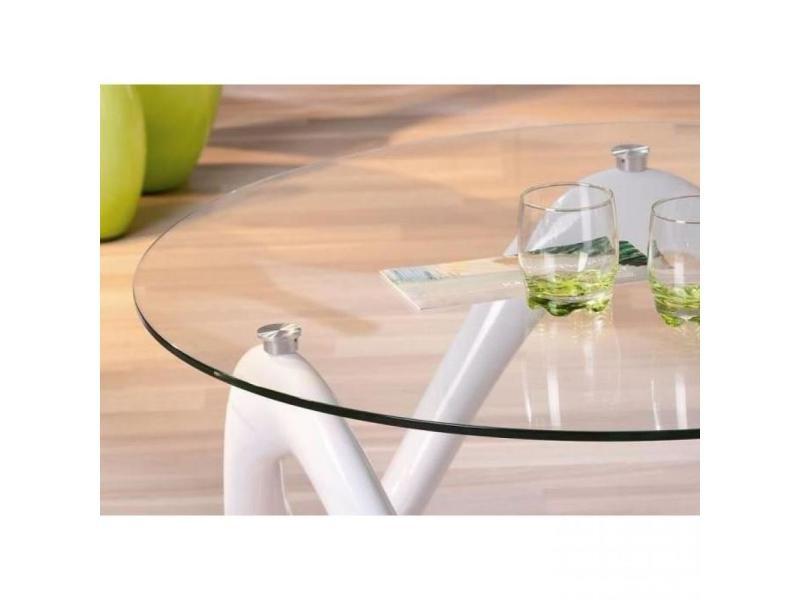 table basse design valentine en verre et pi tement laque. Black Bedroom Furniture Sets. Home Design Ideas