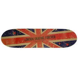 Etagère murale skate london en bois coloris bleu/rouge - dim : h 4.1 x l 79.5 x p 20 cm - pegane -