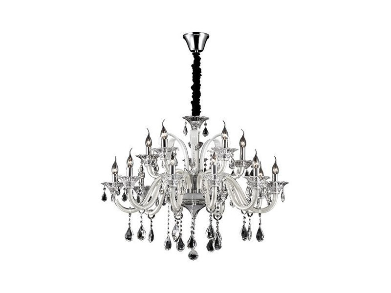 top elegant lustre pampilles colossal blanc en mtal vente de keria luminaires conforama with. Black Bedroom Furniture Sets. Home Design Ideas