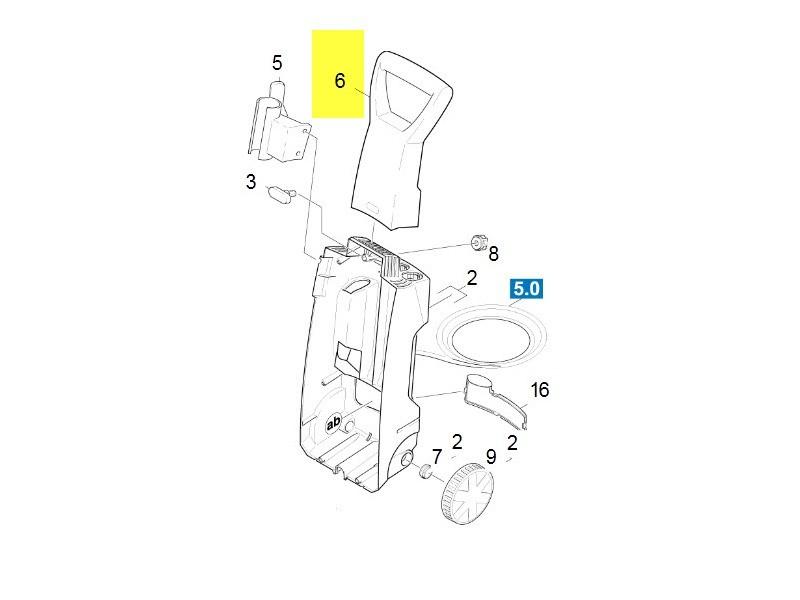 Poignee de transport pour nettoyeur haute-pression karcher - 90367240