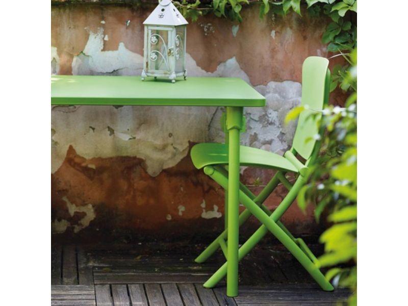 Salon de jardin coloré & design 117x72 zic zac spring par nardi ...