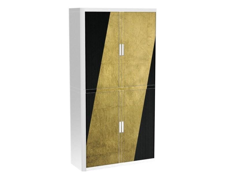 Armoire de bureau métalique porte coulissante h 2m - diagonale