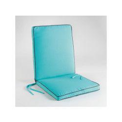 Coussin de fauteuil 90x42x5cm bicolore garden aqua/anthracite