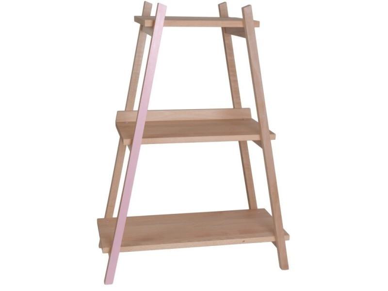 Etagère Sur Pied Pour Chambre Enfant En Hêtre Massif Modèle Rose  Fabrication Française Ape03018